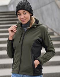 Ladies` Hooded Lightweight Performance Softshell Jacket